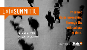 Data Summit banner showing tagline and date / location details.